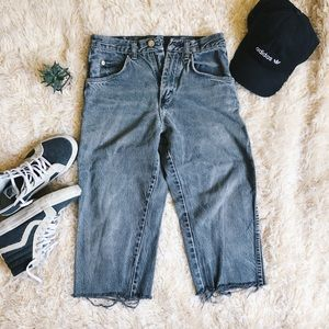 WRANGLER Gray Distressed Cutoff Jeans